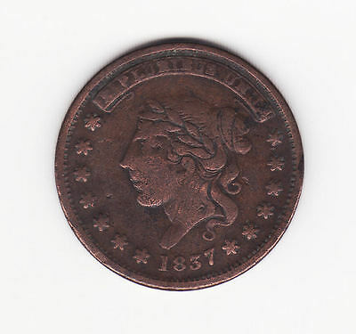 """Hard Times Token 1837 """"Not One Cent For Tribute"""""""
