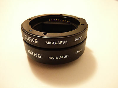 New Meike Automatic Macro Focus Extension Tube Set for Sony E Mount DSLR Camera