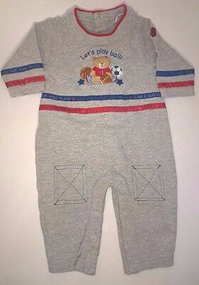 Vintage Baby Clothes Boy 9-12 Months One Piece Outfit Romper Playsuit Sports
