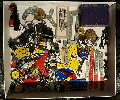 Meccano Erector Set Wrenches Parts Battery Compartment Motor Tires & More