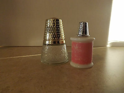 Avon Thimble Bottles. Set of 2.