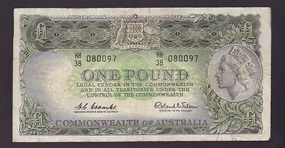 One Pound Paper Banknote Commonwealth of Australia Coombs Wilson K-698