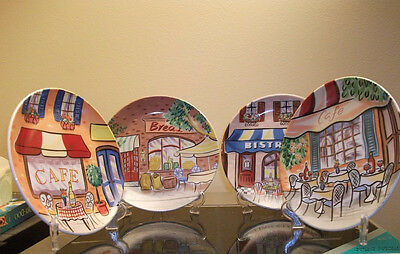 Avon Charming Cafe Collection Plates Set Of 4