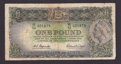 One Pound Paper Banknote Commonwealth of Australia Coombs Wilson K-685