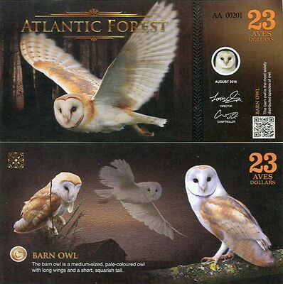 ATLANTIC FOREST - 23 aves dollars 2016 FDS UNC