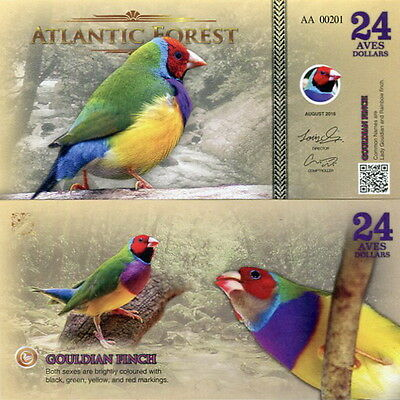 ATLANTIC FOREST - 24 aves dollars 2016 FDS UNC