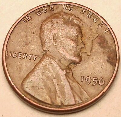 Usa American Error Coins Lamination 1956 Lincoln Wheat Penny 1Cent  642