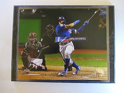 """Chicago Cubs Star Javier Baez Homers In 2016 World Series Photo Mounted On A """"9"""