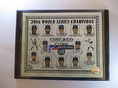 "Chicago Cubs Old Time Style 2016 World Series Champs Stars Photo Mounted On A ""9"