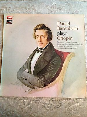 Rare vintage vinyl - Little-known Chopin piano music played by Barenboim.