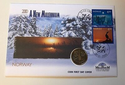 The Norwegian Dual-dated Millennium Coin And Stamp Cover Norway