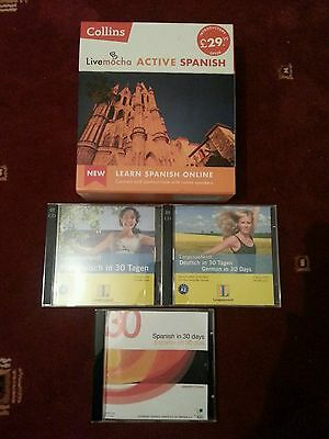 Collins Livemocha Active Spanish + Various Other Language Teaching CDs