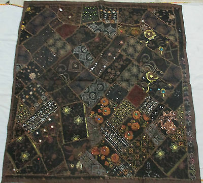 Cotton-Handmade-Decor-Wall-Hanging-Vintage-Indian-Embroidered-Patchwork-Tapestry