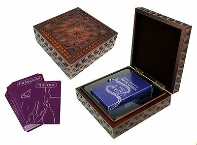 Penny Dreadful Tarot 78 Cards Toy Deluxe  Carved Wood Box Set Free Shipping