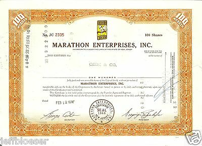 STOCK-Marathon Enterprises Incorporated 1968-House O' Weenies-Company Logo-d