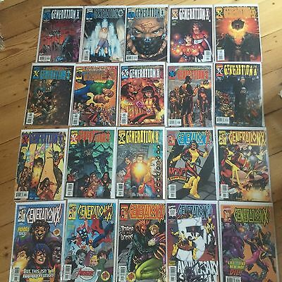 Marvel MINT Generation X 1-75 Complete Comic Issues Bagged/boarded Never Read