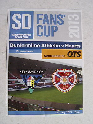 Dunfermline v Hearts 2013 Supporters Direct Fans' Cup