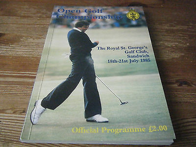 1985   British Open Golf Programme  At  Royal St Georges With Admission Ticket