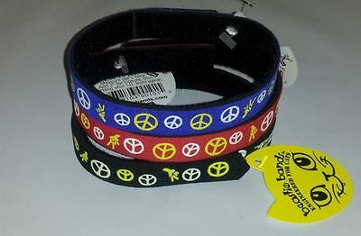 Beastie Band Cat Collars - =^..^= Purrfectly Comfy - PEACE SIGNS