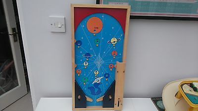 Handmade Wooden Table Top Pinball Bagatelle Game Space Design Boys Bedroom Gift