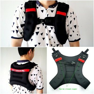 Running Weighted Vest Fitness Training Jacket Adjustable Gym Weight Strength New