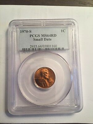 1970 S PCGS MS64RD Small Date Lincoln Cent