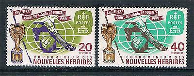 New Hebrides (French)1966 World Cup SGF134/5 MNH