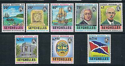 Seychelles 1976 Independence SG 355/62 MNH