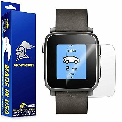 ANTI-BUBBLE 2PK Clear Screen Protector Film Accessories for PEBBLE TIME / STEEL