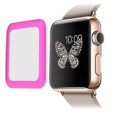 PINK BEZEL TEMPERED GLASS Screen Protector Film For iWatch 38MM APPLE WATCH 1
