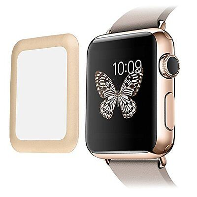 GOLD  BEZEL TEMPERED GLASS Screen Protector Film For iWatch 38MM APPLE WATCH 1