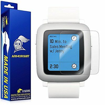 ULTRA CLEAR 2PK New Screen Protector Film Accessories for PEBBLE TIME / STEEL