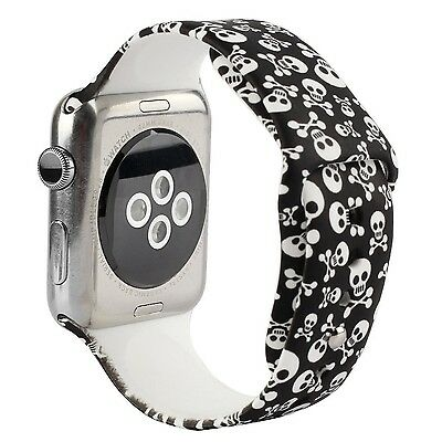 SKULL BUDDIES S/M Wristband Band Bracelet Strap For iWatch 38MM APPLE WATCH