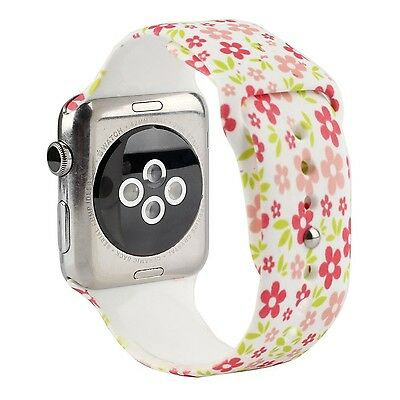 FLOWER DOODLES M/L Wristband Strap Band Bracelet For iWatch 38MM APPLE WATCH