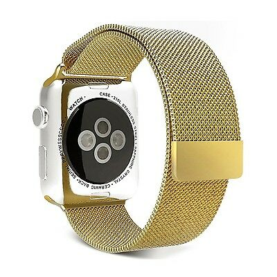GOLD STEEL MESH Band Wristband Bracelet Strap For iWatch 42MM APPLE WATCH