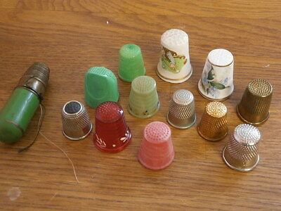Collection of vintage thimbles