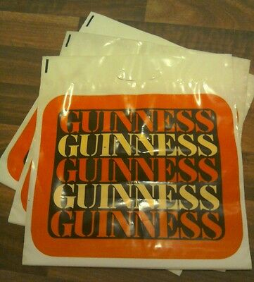 Guinness Plastic Bags X 3 Rare Vintage