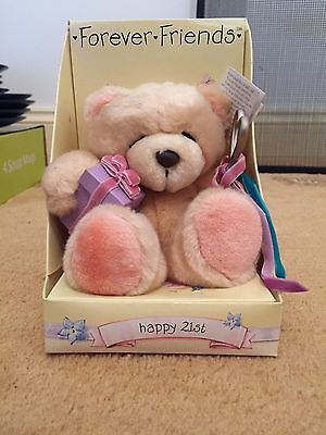 Forever Friends Happy 21st Bear In Box