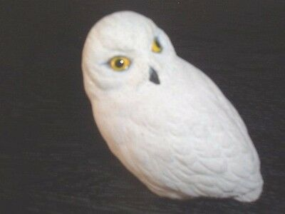 White Stone Owl Collectable Ornament