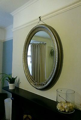 ANTIQUE FRENCH MIRROR large & heavy, ULTIMATE IN SHABBY CHIC
