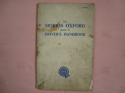 morris oxford series v drvers handbook.