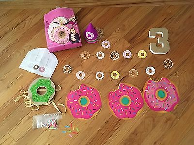 Donut Party Supplies Lot Girls