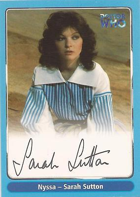 "Doctor Who Definitive Series 1 - A13 Sarah Sutton ""Nyssa"" Autograph Card"
