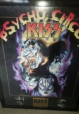 Kiss Commemorative Edition Poster PSYCHO CIRCUS framed poster LOOK
