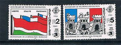 Seychelles 1989 Stamp Expo 89 SG 760/1 MNH