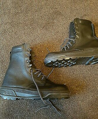 Leather Waterproof Military Police Safety Steel Toe Work Boots