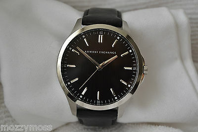 Armani Exchange AX2149 Gents Classic Black Dial Stainless Steel Leather Watch