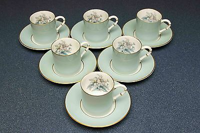 6x royal worcester woodland china cups and saucers