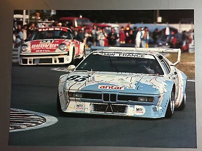 1981 BMW M1 Race Car Print, Picture, Poster RARE!! Awesome L@@K