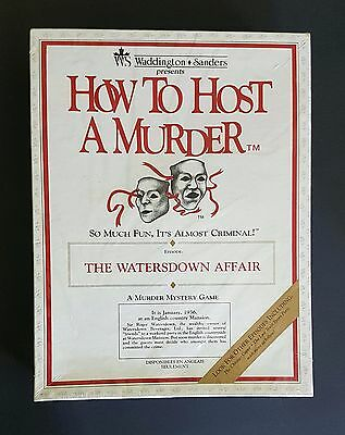 Vintage HOW TO HOST A MURDER Dinner Party Game - The Watersdown Affair 1986